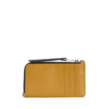 LOEWE Cartera Coin Card Patch Ocre front