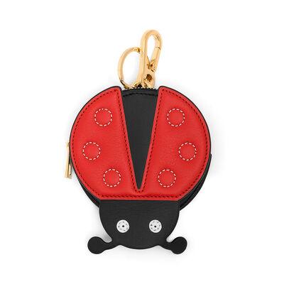 LOEWE Ladybug Cookie Charm 红色/黑色/金属灰 front