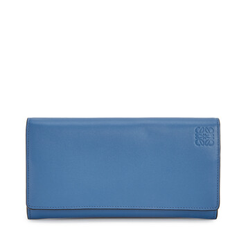 LOEWE Rainbow Continental Wallet blue/multicolour front