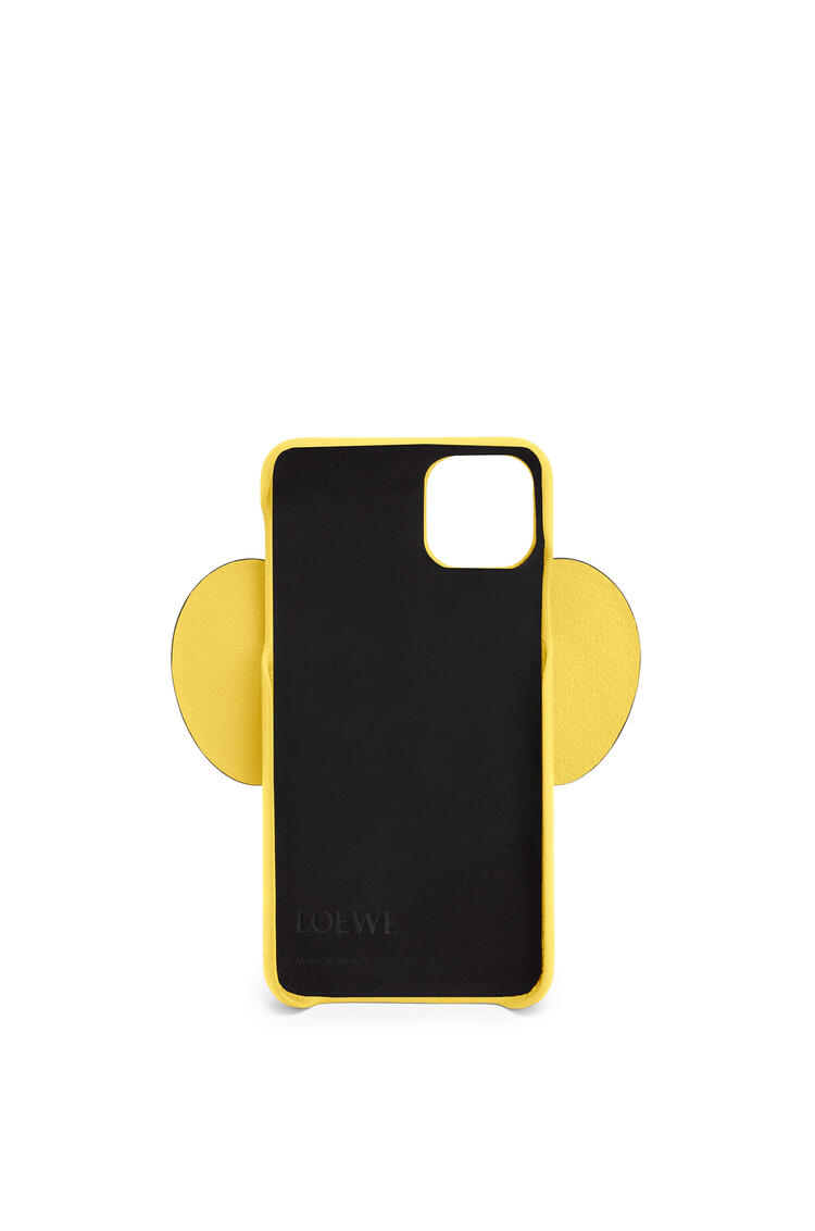 LOEWE Elephant cover for iPhone 11 Pro Max in classic calfskin 黃 pdp_rd