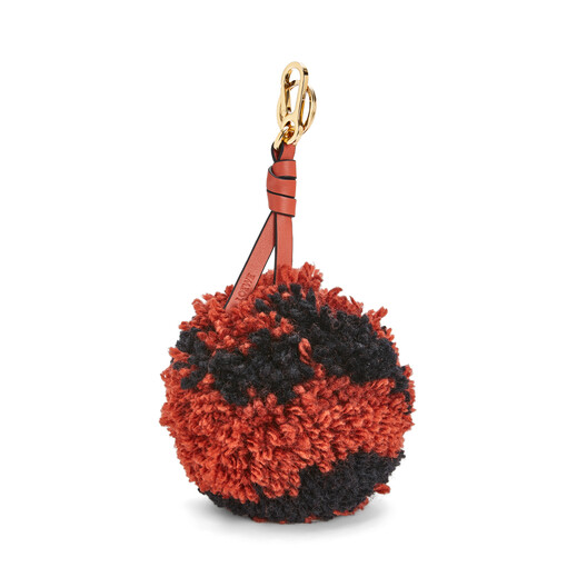 LOEWE Pompon Charm Medium Vermillion/Black front