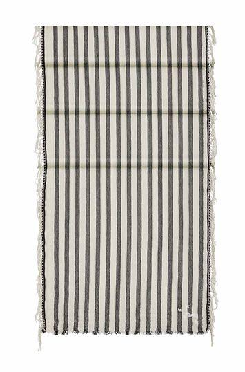 LOEWE 40X150 Paula Stripe Scarf Bead Beige/Black front