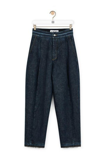 LOEWE Carrot Jeans Mid Blue Denim front