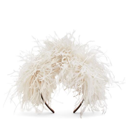 LOEWE Feathers Headband 白色 front