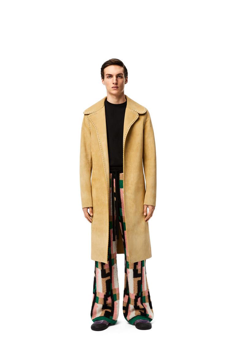 LOEWE Pantalón en mohair gráfico Rosa/Verde/Beige pdp_rd