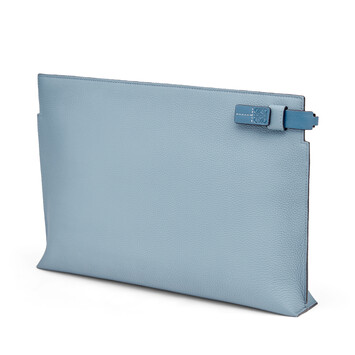 LOEWE T Pouch Dumbo Stone Blue front