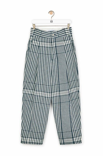 LOEWE Check Carrot Trousers 黑色/白色 front