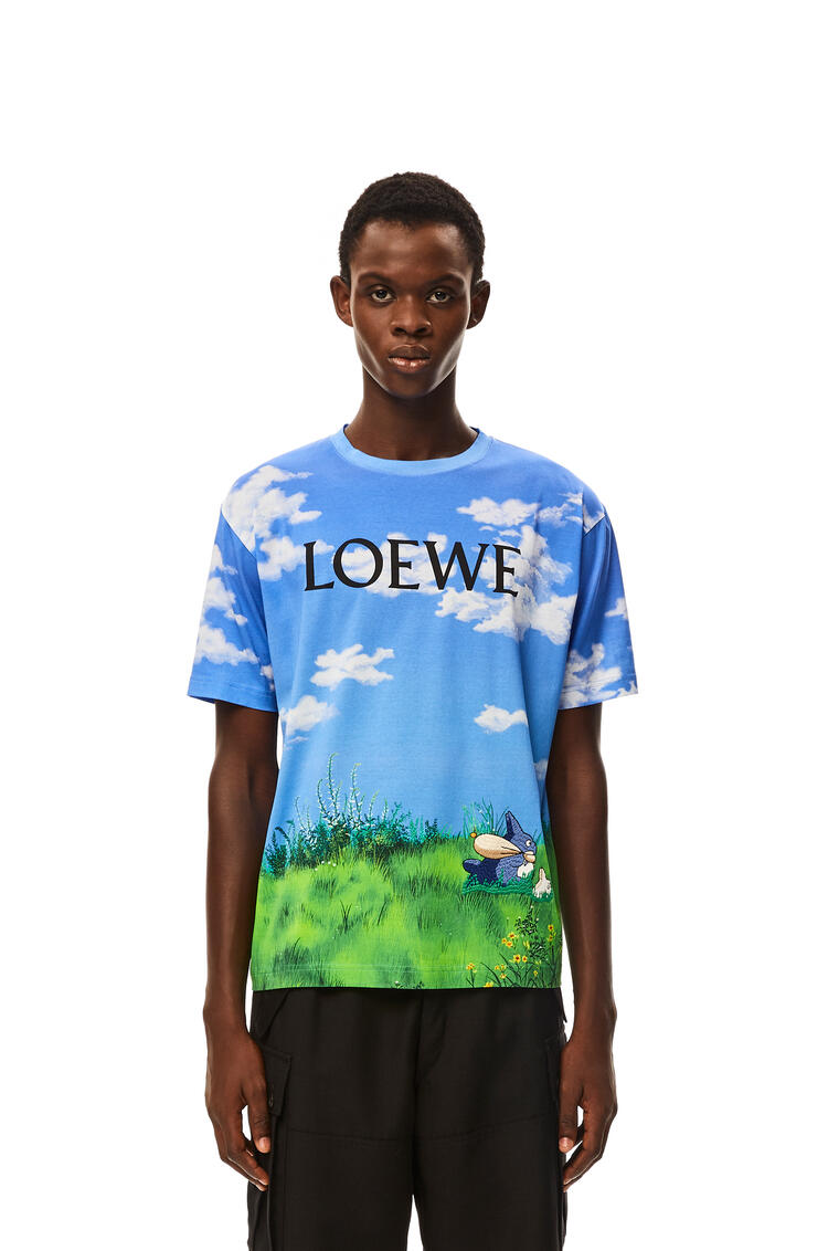 LOEWE Landscape Totoro T-shirt in cotton Sky Blue pdp_rd