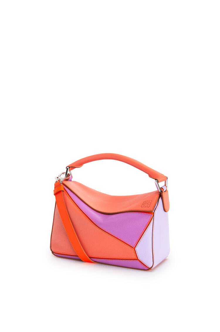 LOEWE Small Puzzle Bag In Classic Calfskin Grapefruit/Mauve pdp_rd