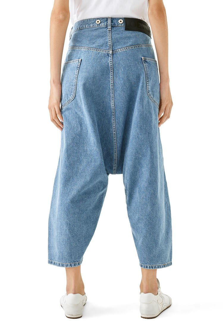 LOEWE Oversize cropped jeans in cotton 靛藍 pdp_rd