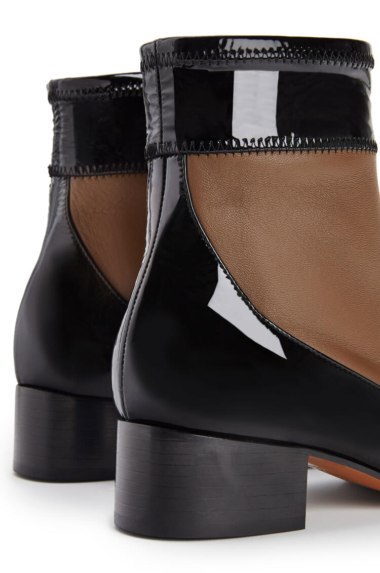 LOEWE Stretch ankle boot 40 in lambskin and calfskin Khaki Green/Black pdp_rd
