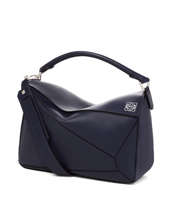 LOEWE Puzzle Large Bag 海军蓝 front