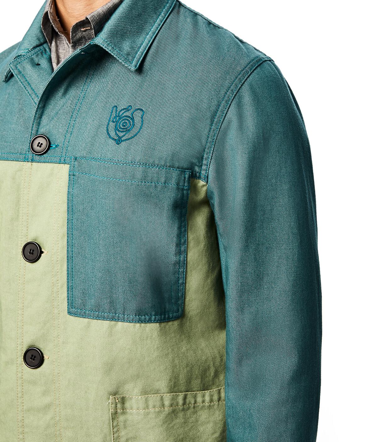 LOEWE Eln Workwear Jacket Green front