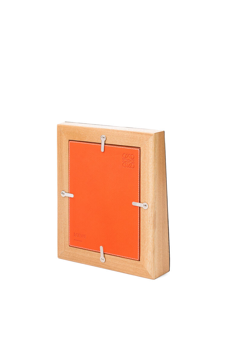 LOEWE Photo frame in grained calfskin Orange pdp_rd