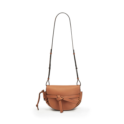 LOEWE Gate Woven Small Bag Tan front