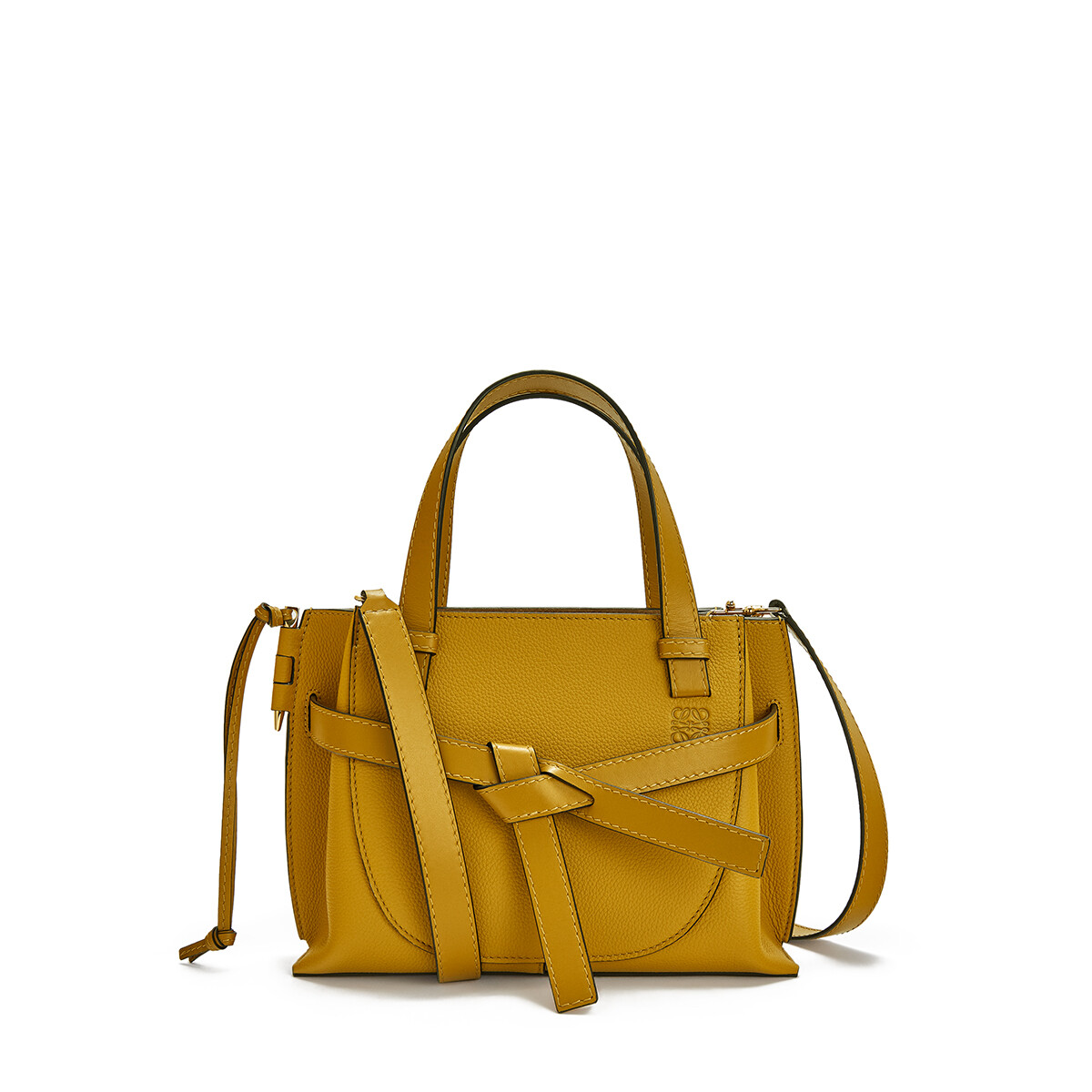 LOEWE Bolso Gate Top Handle Mini Ocre front