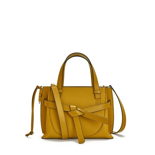 LOEWE Gate Top Handle Mini Ochre front