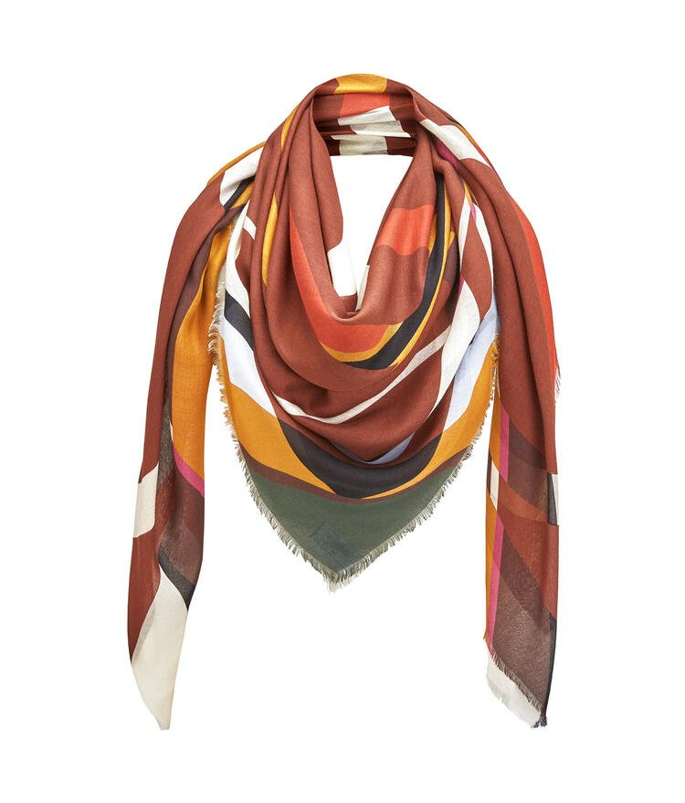 LOEWE Scarf in modal and cashmere Old Toffee pdp_rd