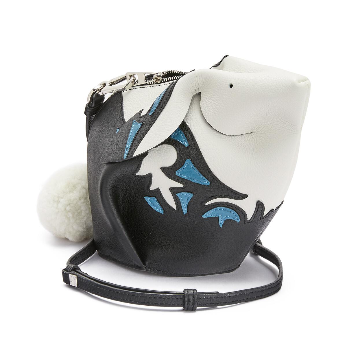 LOEWE Bunny Cowboy Mini Bag Black/Light Blue front