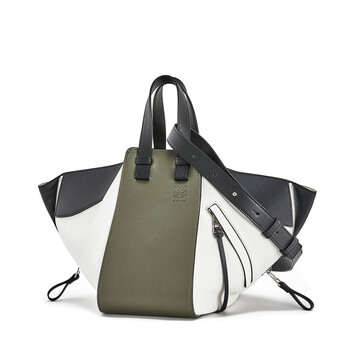LOEWE Hammock Small Bag Khaki Green/Soft White front