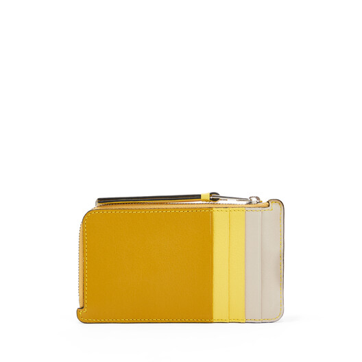 LOEWE Puzzle Coin Cardholder Ochre/Yellow front