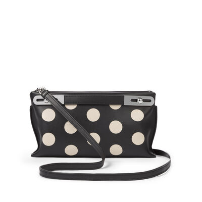 LOEWE Missy Dots Small Bag Black/Greige front