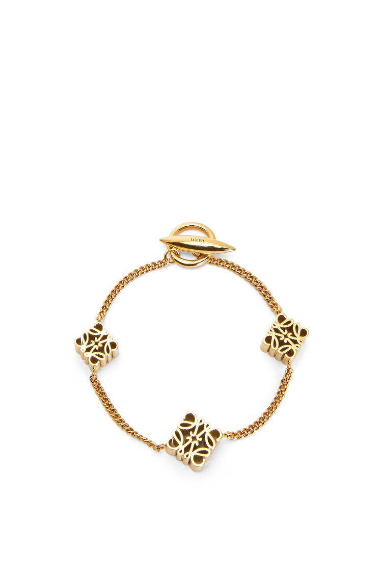 LOEWE Anagram bracelet in metal Gold pdp_rd