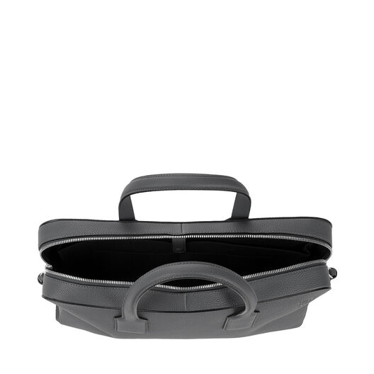 LOEWE Goya Thin Briefcase Steel Grey all