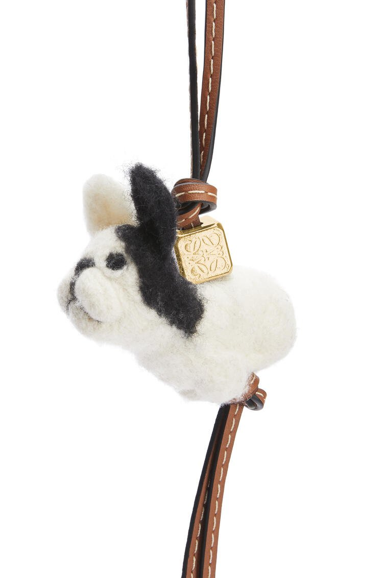 LOEWE Puppy charm in felt and calfskin Natural/Tan pdp_rd