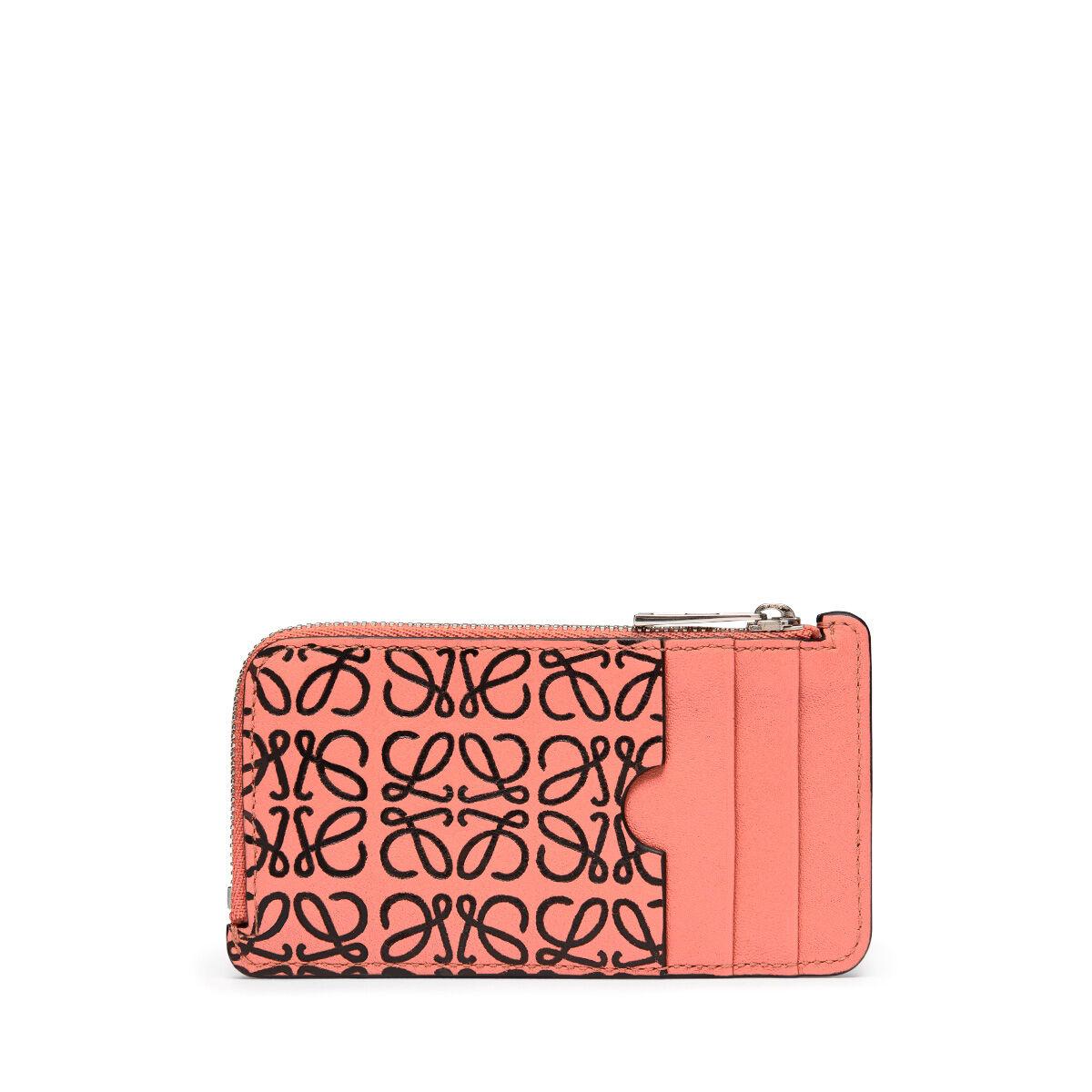 LOEWE Coin/Card Holder Pink Tulip/Black all