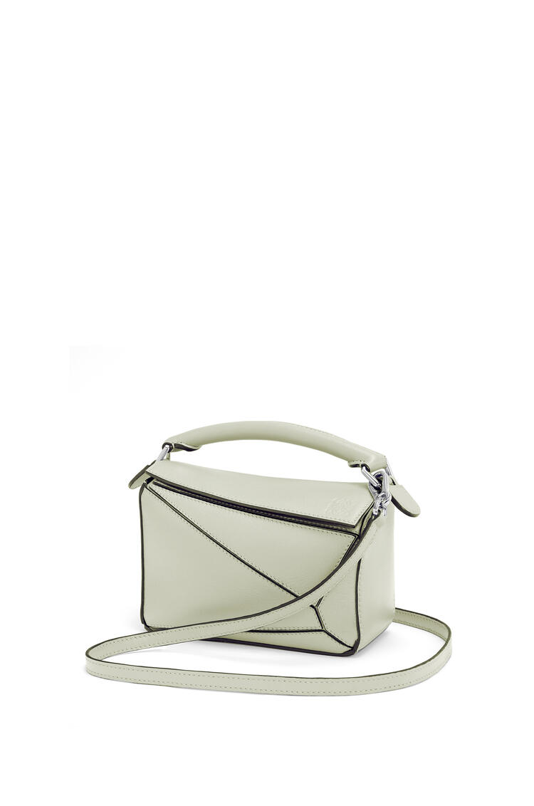 LOEWE Mini Puzzle bag in pearlized calfskin Sage pdp_rd