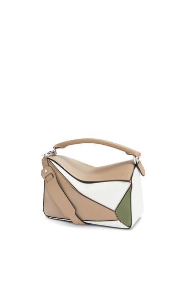 LOEWE Puzzle bag in classic calfskin Sand/Avocado Green pdp_rd
