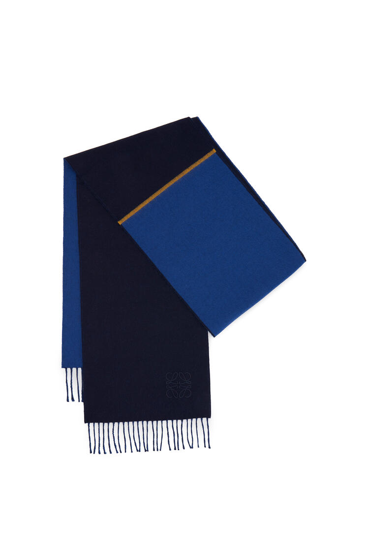 LOEWE 30 X 180 Cm Window Scarf In Wool And Cashmere Blue/Dark Blue pdp_rd