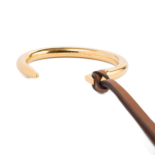 LOEWE Nail Bracelet Gold/Tan front