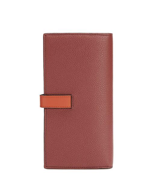 LOEWE Large Vertical Wallet Wine/Burnt Orange  front