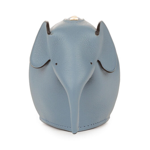 LOEWE Elephant Coin Purse Stone Blue all