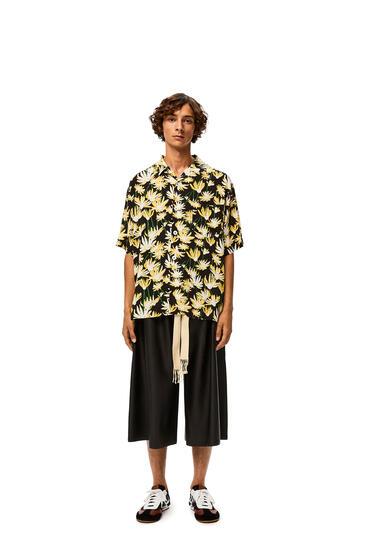 LOEWE Bowling shirt in diasy viscose Black/Yellow pdp_rd