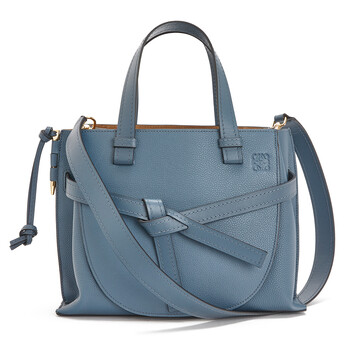 LOEWE Gate Top Handle Small Steel Blue front