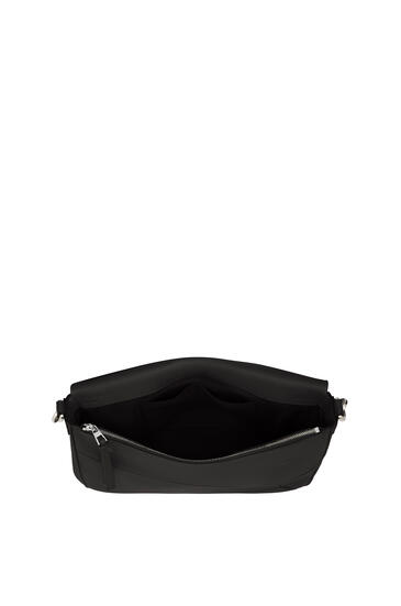 LOEWE Puzzle Messenger bag in soft grained calfskin Black pdp_rd