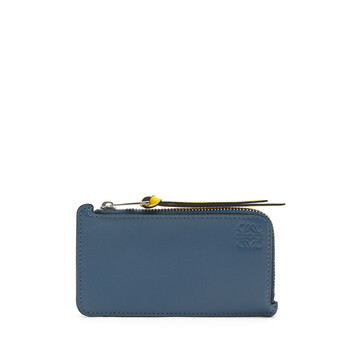 LOEWE Rainbow Coin Cardholder Blue/Multicolor front