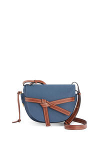 LOEWE Small Gate bag in soft grained calfskin Indigo Dye/Pecan pdp_rd