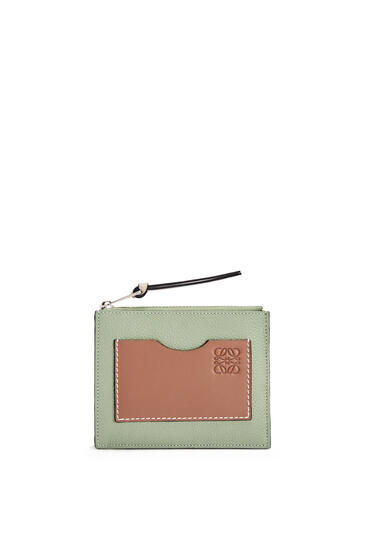 LOEWE 软粒面牛皮革硬币卡包 Rosemary/Tan pdp_rd