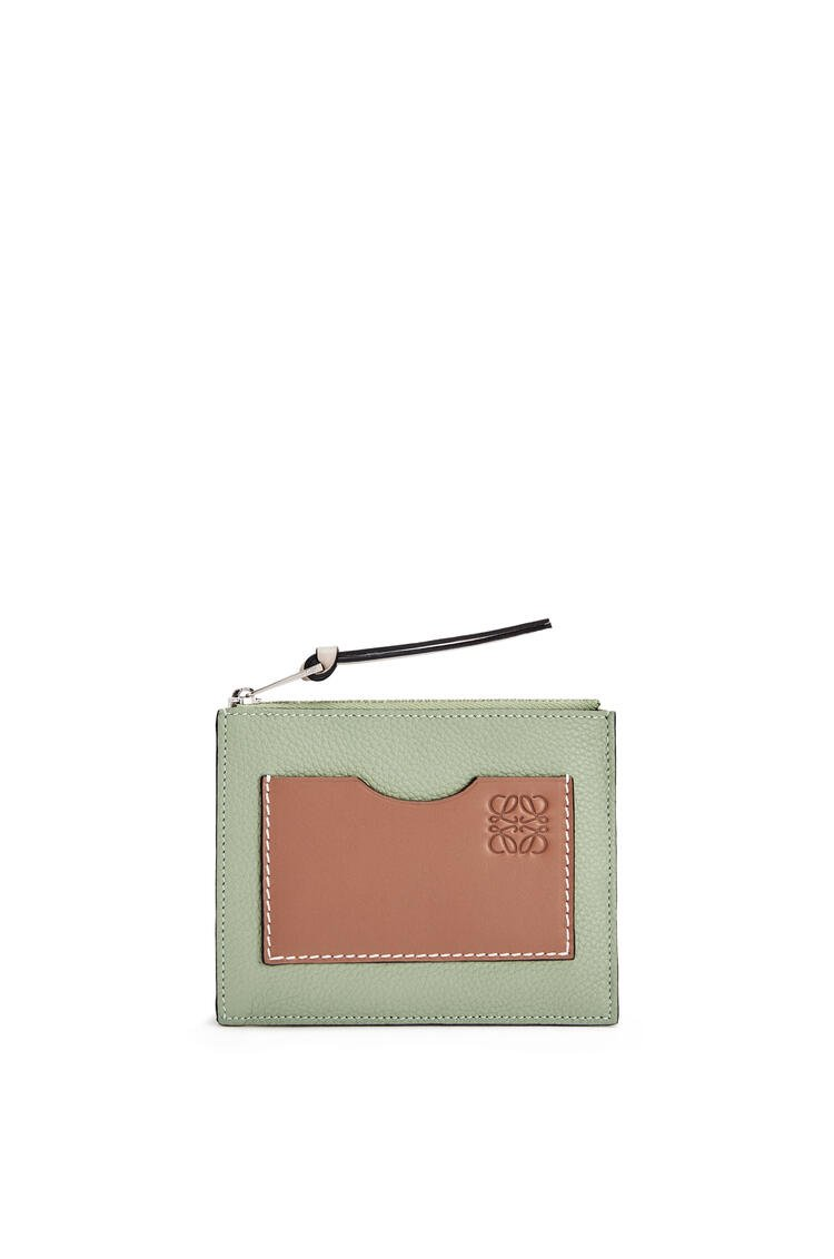 LOEWE Coin cardholder in soft grained calfskin Rosemary/Tan pdp_rd
