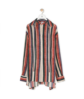 LOEWE Collar Ribbon Shirt Rosa/Fresa/Azul front