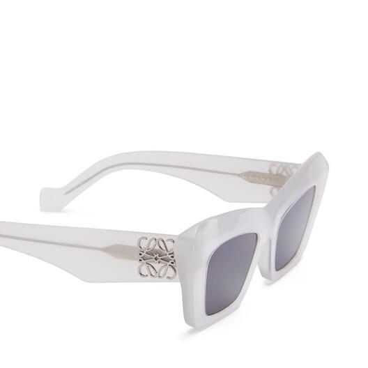 LOEWE Acetate Cateye Sunglasses Ice White front