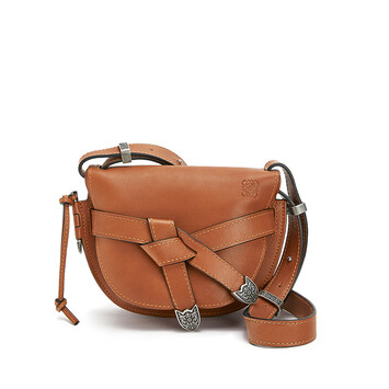 LOEWE Gate Western Small Bag Walnut front