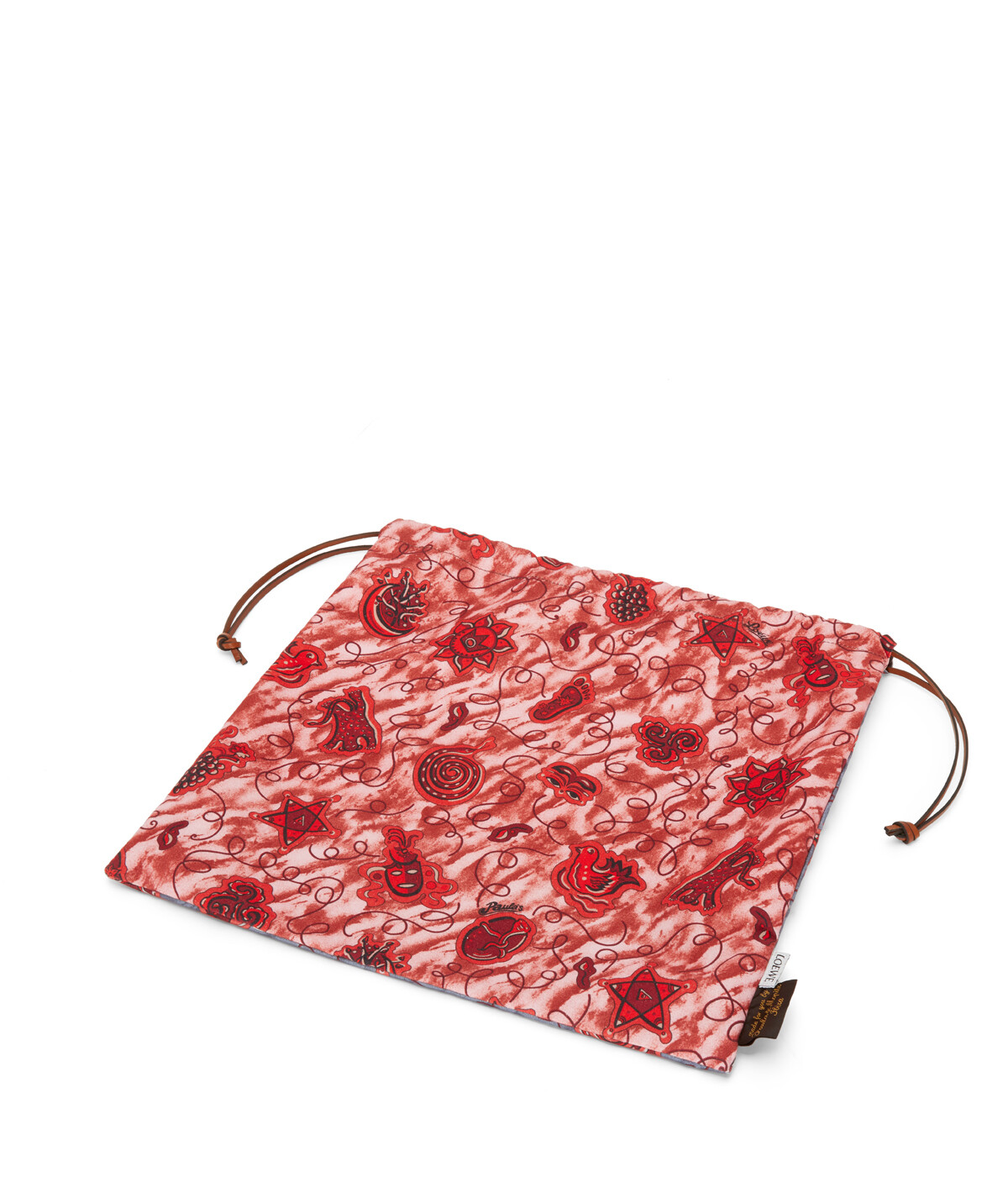 LOEWE Paula Drawstring Pouch L Blue/Red front