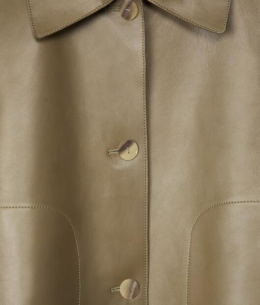 LOEWE Button Jacket Khaki Green front