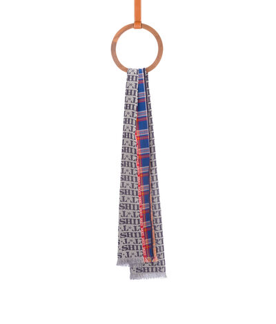 LOEWE 70X200 Scarf Ts White/Blue front