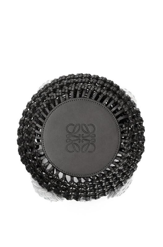 LOEWE Bucket 网状印花包 黑色 front
